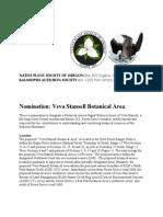 Veva Stansell Botanical Area Nomination