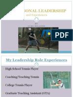 my personal leadership