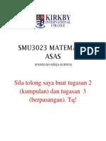 Smu3023 Matematik Asas