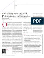 Contouring, Finishing, And Polishing Anterior Composites