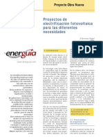 Proyectos de electrificaciòn fotovoltaica para las diferente