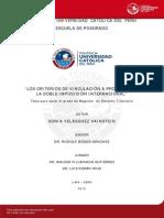 Los Criterios de Vinculacion a Proposito de La Doble Impocion Internacional