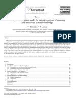 Structuraldynamics Belmouden Lestuzzi Equ Frame Model Urm Cbm 2009