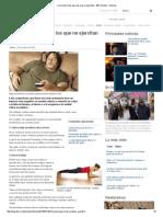 Cinco Ejercicios Para Los Que No Ejercitan - BBC Mundo - Noticias