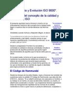 Historia y Evolución ISO 9000