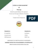 Whatsapp seminar report