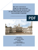 FY15 Preliminary Budget Response