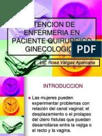 Atencion de Enfermeria en Paciente Quirurgico Ginecologico