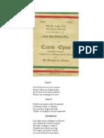 Canto épico en el centenario de la Independencia Mexicana, 1910