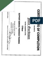 ssp certificate - julie1