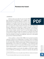 Imagination Et Phantasia Chez Husserl