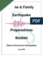 Home Family Preparedness Earthquake Booklet