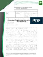 Doc. 573 NEGOCIACIÓN DE ACCIONES. DERECHO DE PREFERENCIA.pdf