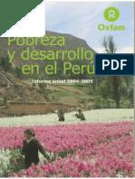 2005  Informe Anual 2004 - 2005 Regimen Democratico Peruano