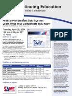 FPDS Webinar April 2014