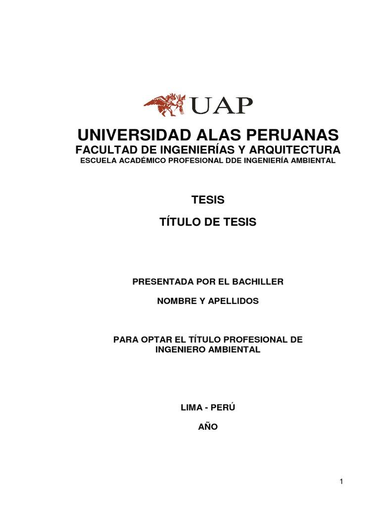 Modelo de tesis para uap for Tesis de arquitectura ejemplos