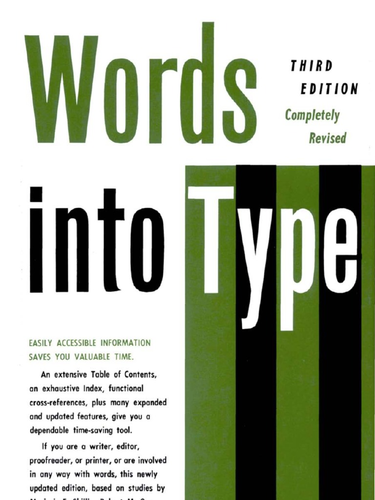 Skillin, Marjorie E. & Robert M. Gay - Words Into Type, 3e (1974) |  Grammatical Number | Copy Editing