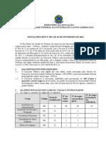 Edital PROGEPE 055 2014 - Abertura Concurso PCCTAE N Sup