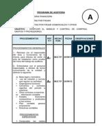 Programa de Auditoria Cuentas Por Pagar