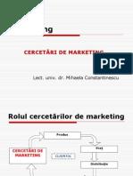 Curs 5 (Cercetari de Marketing - Cerc Cantitative)