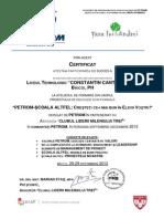 Certificate Ttt - Petrom-scoala Altfel