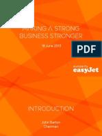 EasyJet Plc Fleet Plans