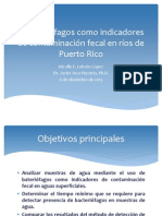El uso de fagos como indicadores de contaminación fecal en ríos de Puerto Rico. Nicolle E. Lebrón (J. Arce)