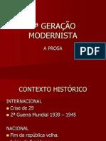 2ª Geração Modernista - Prosa - 3ºano