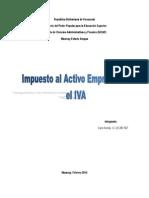 Impuesto Al Activo Empresarial El Ivp