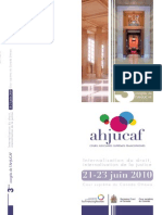 AHJUCAF, Internationalisation Du Droit, Internationalisation de La Justice, 2010