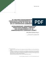 Sarmiento JP El Recurso Extraordinario de Unificación Jurisprudencial, 2011