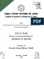 Cianuración por agitación de las minas de Ponce Enríquez.pdf