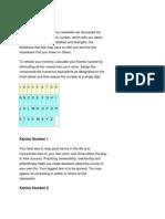 Numerology Karmic Number Interpretations