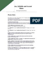 phonics rules 1