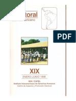1998  Boletín electoral XIX. Impacto del Sistema electoral sobre el sistema político