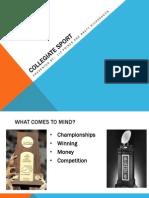 collegiate sport presentation