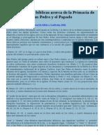 50 Referencias Bíblicas Acerca de La Primacía de San Pedro y El Papado - Dave Armstrong - Biblia y Tradición
