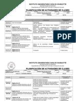Planificacion de Actividades Finanzas 2014-i 7semanas