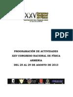 Programacion Especifica Del Congreso