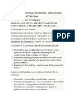 Venezuela y El Nuevo Modelo Productivo Socialista