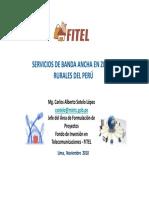 15 11 2010 Servicios de Banca Ancha en Zonas Rurales Del Peru FITEL