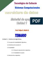Estructura de Datos ISC Unidad 1