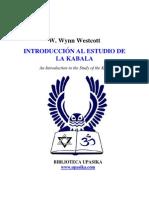 Wynn Westcott Introduccion a La Cabala