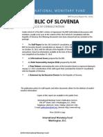 Republic of Slovenia 2013 Article IV Consulation