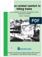 Motion Related Comfort in Tilting Trains