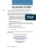 Islamic Republic of Iran 2014 Article IV Consultation