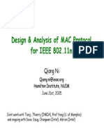 MAC Protocol 802-11 n
