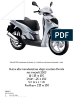 Manuale Officina Honda Sh @ Pantheon Dylan 125 150