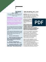 Utah Safety Net, April Minutes and May, 2014, Agenda