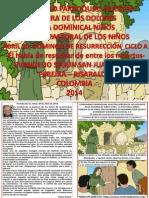 HOJITA EVANGELIO DOMINGO DE RESURRECCIÓN CICLO A COLOR